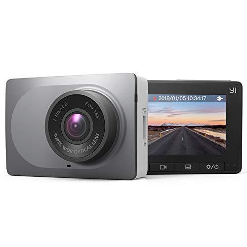 YI Auto Kamera Full HD 1080P/60fps Armaturenbrett Kamera mit 6,68 cm (2.7 Zoll) Bildschirmn 165° Weitwinkelobjektiv , Auto DVR Dashcam mit G-Sensor, WDR, Loop Recording, Nachtsicht, WIFI und APP für ISO/Android-grau