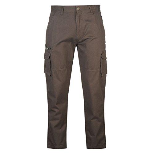 Pierre Cardin Uomo Cargo Pantaloni In Cotone Tasche Laterali Passanti Per Cintura Carbone 38W L