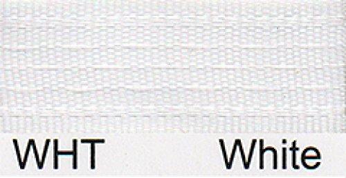 Naht Schrägband 13mm breit, Weiß, 20m Rolle