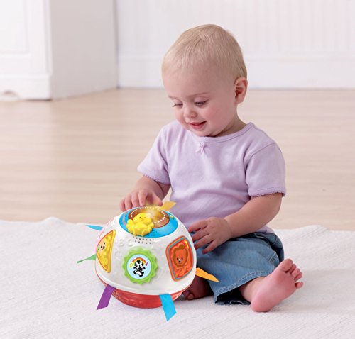 Image of VTech Baby Crawl and Learn Lights Ball - White and Red