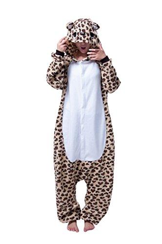MissFox Kigurumi Pyjama Erwachsene Anime Cosplay Halloween Kostüm Kleidung Leopard L