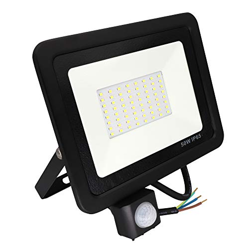 Foco LED con Sensor Movimiento 50W IP65 Poop