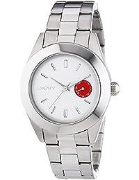 DKNY NY2131 - Reloj de cuarzo para mujer, correa de acero inoxidable color plateado