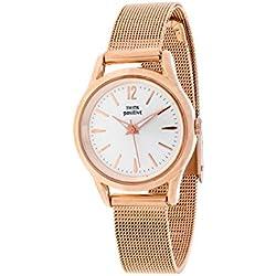 THINKPOSITIVE, Womens watch, Model SE W 132 R Small Milano Rosè, Steel Bracelet, Unisex