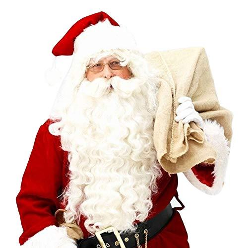 Weihnachtsmann Kostüme Cosplay - Weihnachtsmann Perücke + Bart Set Kostüm Zubehör Erwachsene Weihnachten Kostüm - Weihnachtsmann Set Perücke Kostüm