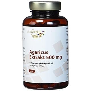 Vita World Agaricus Extrakt 500mg 100 Kapseln Apotheken Herstellung ABM Agaricus Blazei Murill Mandelpilz 20 % Polysaccharide