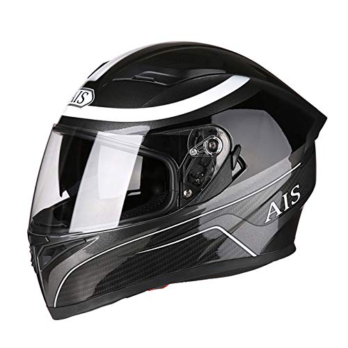 Berrd Casco moto Flip Motocross Casco moto Casco integrale Moto con visiera parasole interna modulare nera R1-607-HM