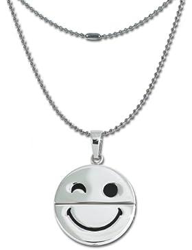 SterlinX Halskette - lachender Smiley - für Damen und Herren aus der SterlinX Kollektion D1ESK032W