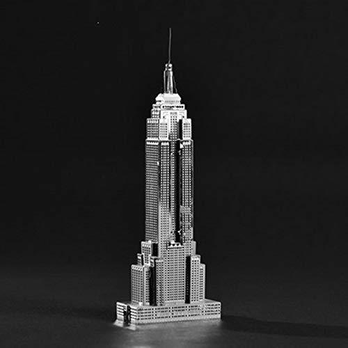 Modelo ensamblado Empire State Building DIY Hecho a Mano 3D...