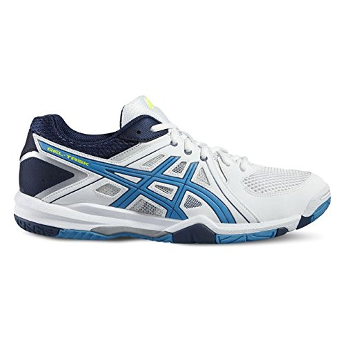 Asics Gel Task, Chaussures de Volleyball Homme Blanc (White/Blue Jewel/Safety Yellow)