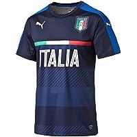 Puma FIGC Italia Training Jersey Maglietta da ragazzo, Blu, 128 - S - Italiano Jersey