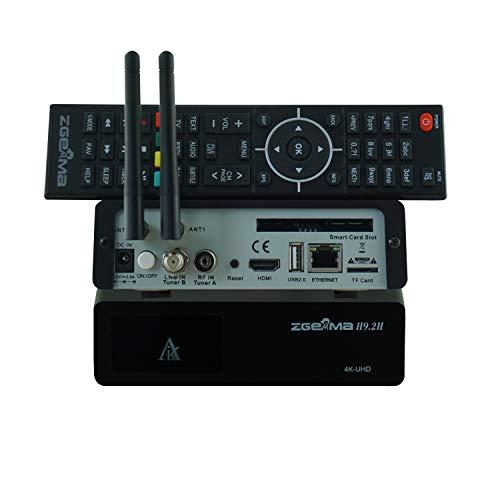 Zgemma H9 2H Décodeur Satellite 4K UHD TV Enigma 2 DVB-S2X + DVB-T2 / C  IPTV Stalker WiFi intégré