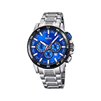 Festina heren chronograaf kwarts smartwatch polshorloge met roestvrij stalen armband F20352/2