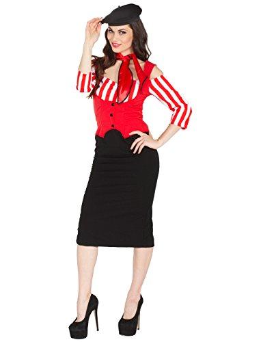 Französin Kostüm - Kleid Französin mit Halstuch 44