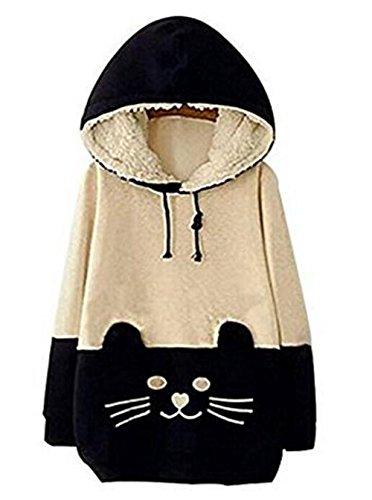 arrowhunt-womens-girls-cartoon-cat-fleece-hooded-pullover-sweatershirt-uk14-16-asian-xxl-beigedark-b