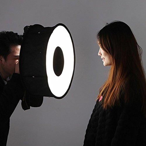 45cm Circular, zusammenklappbare Softbox Flash Mamum Softbox Blitz-45cm zusammenklappbar Speedlight-für Canon Nikon Kamera