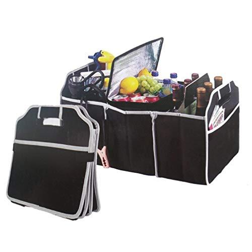 Gamloious Multi-Taschen-Einkaufstasche bewegliche Faltbare Non-Woven Wiederverwendbare Große Lebensmittelgeschäft-Auto-Organisator LKW Picknick Container Taschen, schwarz - Lebensmittelgeschäft Lkw