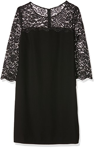 ESPRIT Collection Damen Kleid 116EO1E015, Schwarz (Black 001), 38