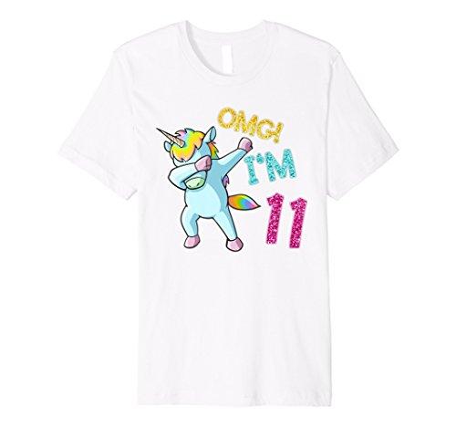 11. Geburtstag Dab Einhorn T-Shirt OMG 11 Jahre alt Geschenk