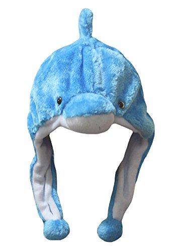 Erwachsene Für Delfin Kostüm - Petitebelle Halloween-Kostüm Tiere Hut Unisex-Kleidung Freie Größe Einheitsgröße Blau