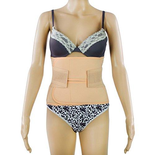 Grinscard Postnatal Bauchgurt für einen flachen Bauch nach der Geburt - Atmungsaktiv - Größe L - Abdominal Elastische Bauchbandage