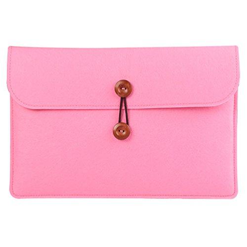 YiJee Custodia Protettiva Borsa Sleeve Laptop con Tasche per Macbook Air/Pro 11.6 Pollice Pink