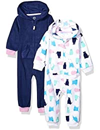 Amazon Essentials 2-Pack Microfleece Hooded Coverall Unisex bebé