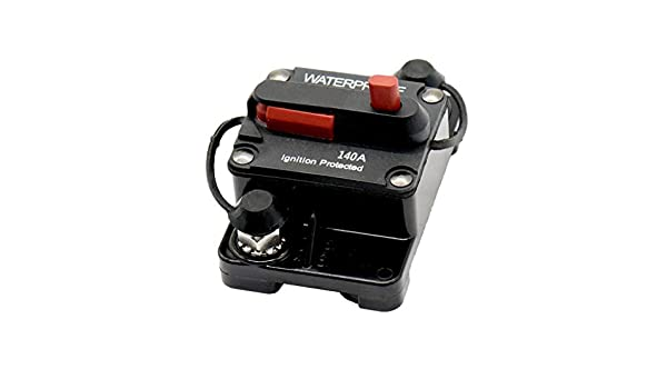 12V-24V DC Circuit Breaker Inline Fuse Inverter Waterproof Manual Reset 140 Amp