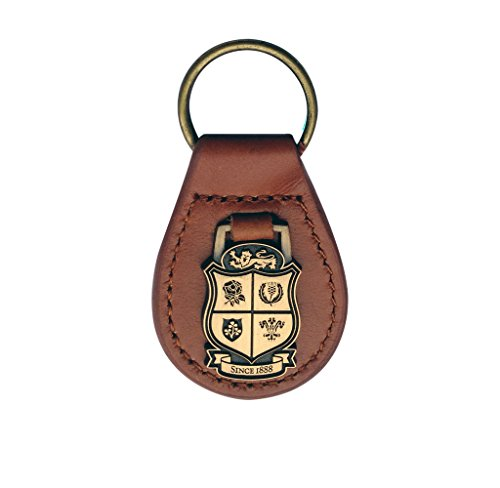 Brand Co. Official British & Irish Lions Rugby Leather Key Fob [Brown] - Irish Lions Rugby