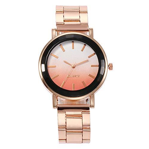 Preisvergleich Produktbild Tohole Klassische Leder Quarz Uhr für Frauen Damenuhr Temperament klassische Leder Damenuhr Männer und Frauen Geschenk Quarzuhr(F, One size)