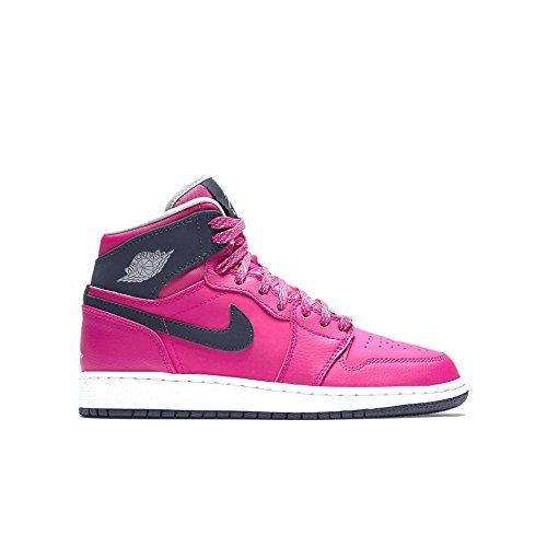 Nike Damen Air Jordan 1 Retro High GG Laufschuhe, Rosa/Schwarz/Grau/Weiß (VVD Pnk/Drk Gry-Obsdn-WLF Whit), 42 1/2 EU -