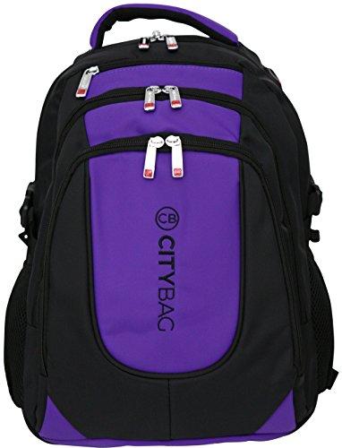 Zaino porta laptop da 15,6 pollici - impermeabile e traspirante - Viola