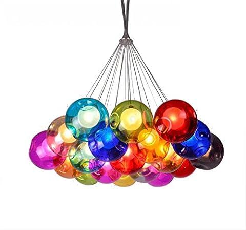 Lampe suspension Lampe suspension Lampe Bubble colorées de Ballon verre