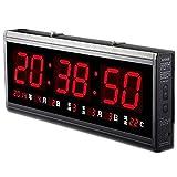 ht4819sm-2, Free Shipping, Aluminum Large Digital LED Wall Clock, Big Watch Modern Design, Digital Clock. LED Electronic Calendar...