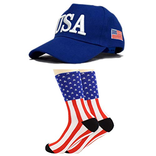 Make America Great Again - 2020 Donald Trump Baseball Cap und Socken, Unisex Campaign Cap, Trump socken, Hats Outdoor Baseballmütze Sportmütze