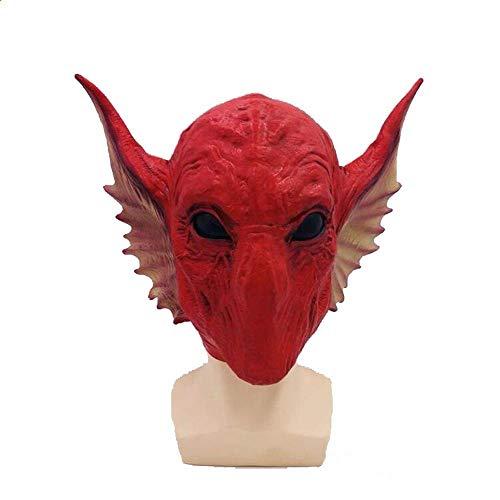 Littlefairy Masken für Erwachsene,Schlange Alien Maske Halloween roten Basilisken Perücke Leistung Requisiten