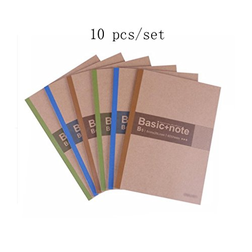 Liu Yu·Bureau, fournitures de bureau fournitures brun 60 pages Soft Notebook B5 bloc-notes 10 pcs / set