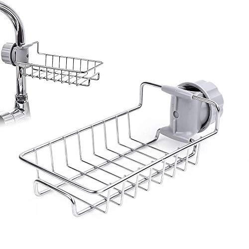 gelrova lavello caddy organizer rubinetto da cucina porta spugna scolapiatti caddy per lavastoviglie acciaio inossidabile rubinetto portaoggetti appeso scaffale sapone porta spugna