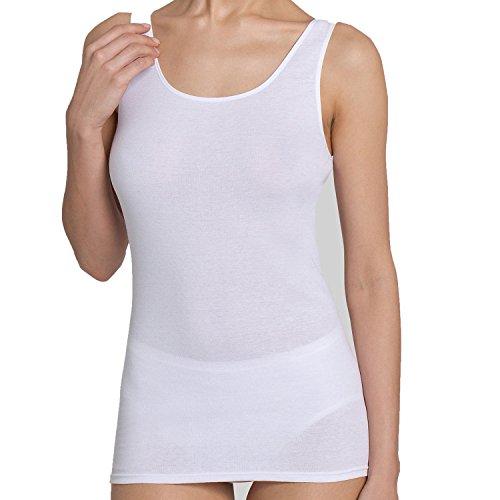 Triumph Damen Tank Tops, Katia Basics Shirts 02, 4 Stück (38, weiss) (Damen Express Shirt)