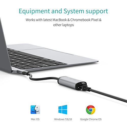41KPNU8oRoL - [Amazon.de] QacQoc USB-C auf Ethernet Adapter für 11,89€ statt 16,99€