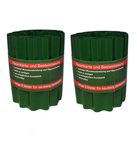 Bordures plastique vert