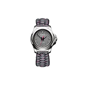 Victorinox INOX Reloj para Mujer Analógico de Cuarzo Suizo con Brazalete de Nylon V241771