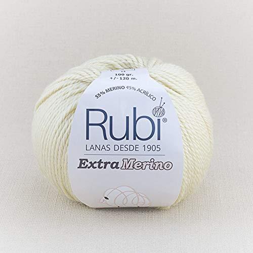 Rubi Extra Merino 100 G. Composition : 55% Merino 45% acrylique poids/longueur : 100 G, environ 120 m Col 101