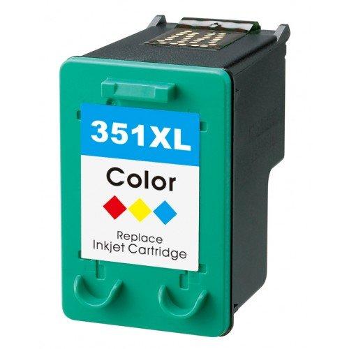 Cartuccia colorata riciclata, 3x 6ml, generica, per ihp 351 xl