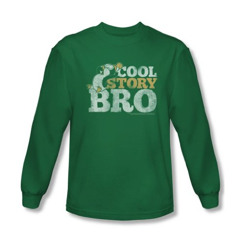 Chilly Willy - Herren Cool Story Langarm-Shirt In Kelly Grün Kelly Green