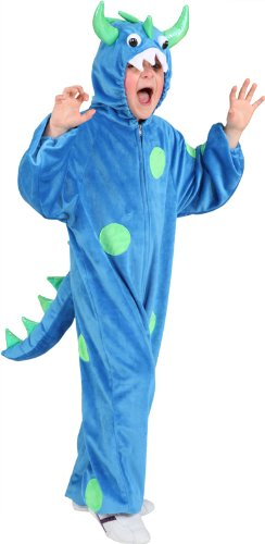 Orlob Monster Kinder Kostüm in blau-grün zu Karneval Fasching - Grüne Monster Mädchen Kostüm