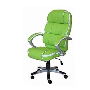 (BTM) Fauteuil de bureau de créateur en cuir synthétique Vert
