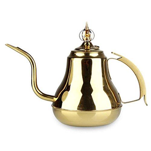 RSHUI Cuello Largo, Cocina de inducción, hervidor de Agua, Tetera para el hogar, Modelado de Coronas, destacando el Comportamiento aristocrático (con Filtro), Gold