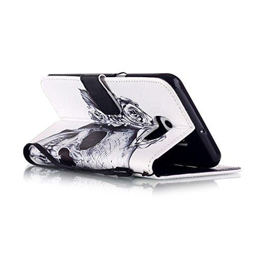 Meet de Samsung Galaxy S6 Edge Plus Bookstyle Étui Housse étui coque Case Cover smart flip cuir Case à rabat pour Galaxy S6EdgePlus / S6Edge+ Coque de protection Portefeuille - this iphone is locked s crâne