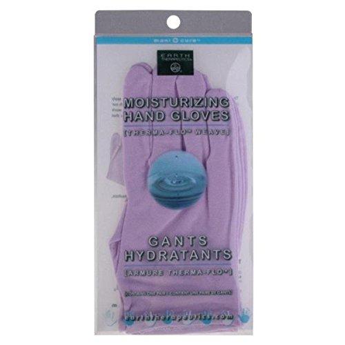 Earth Therapeutics Feuchtigkeitsspendende Handschuhe, einfarbig, lavendelfarben, 1 Paar